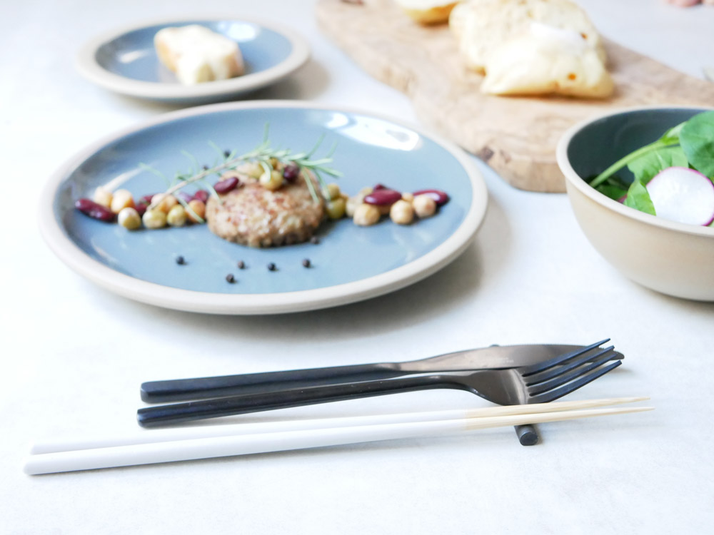 【STIIK】カトラリーのような箸(2膳入)セラミックグレー