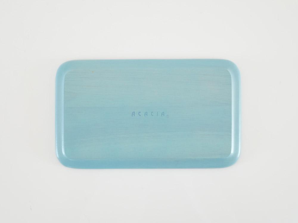 【ACACIA】ウッデンプレート S/ブルー