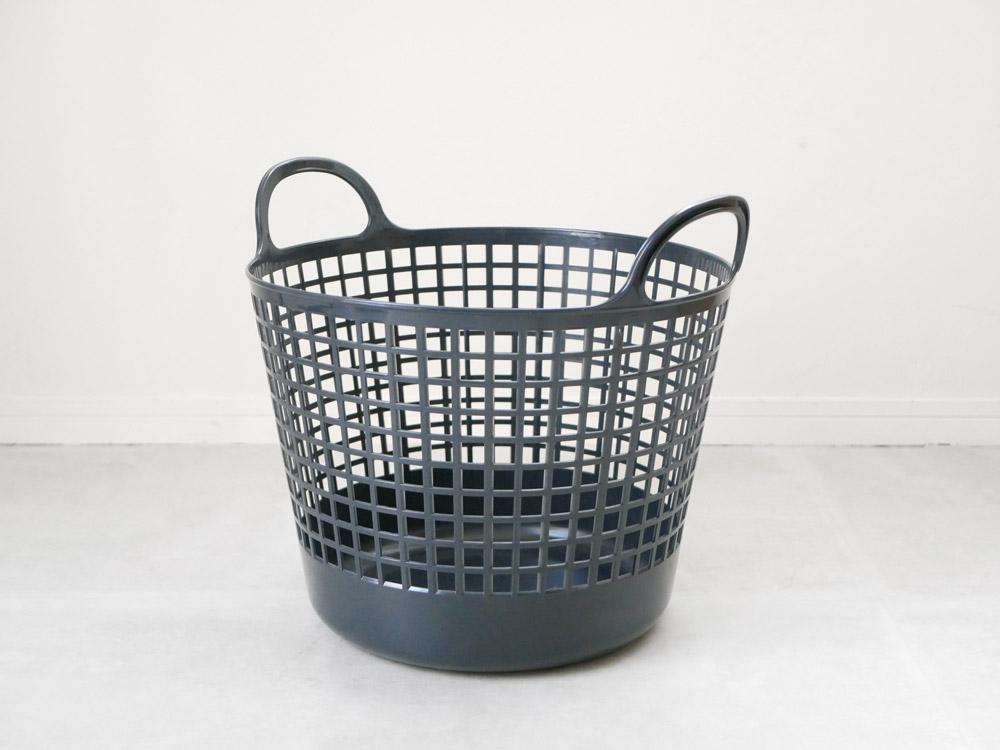 【like-it】ランドリーバスケット 2段 ブラック