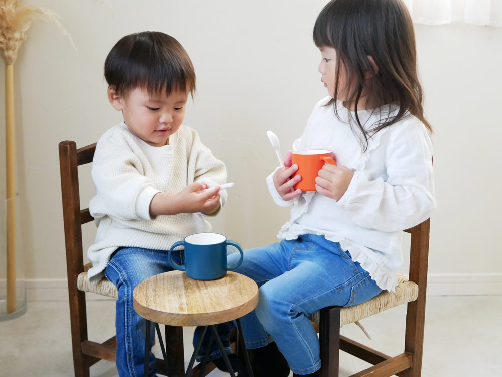 【tak.】キッズディッシュ ギフトボックス カトラリー付 【ベア】オレンジ
