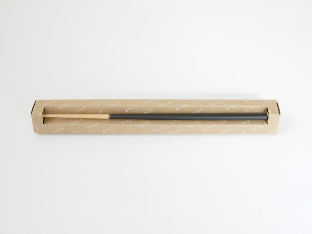 【STIIK】カトラリーのような箸(2膳入)チャコールグレー