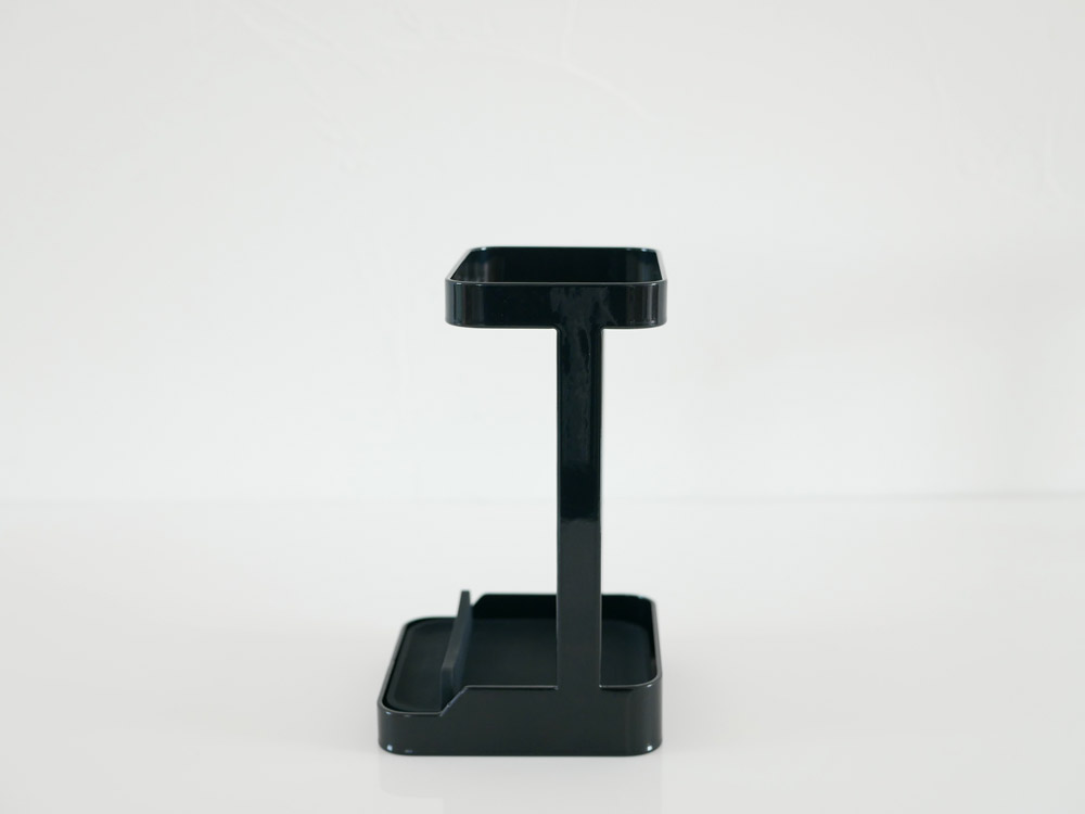 【tower】耐熱トレー付き ヘアーアイロンスタンド ブラック