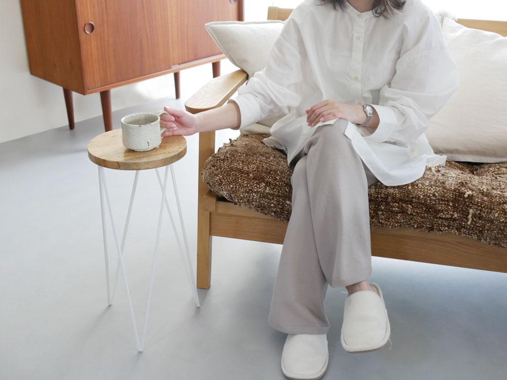 【Hinata Life】サークルスタンド L ホワイト