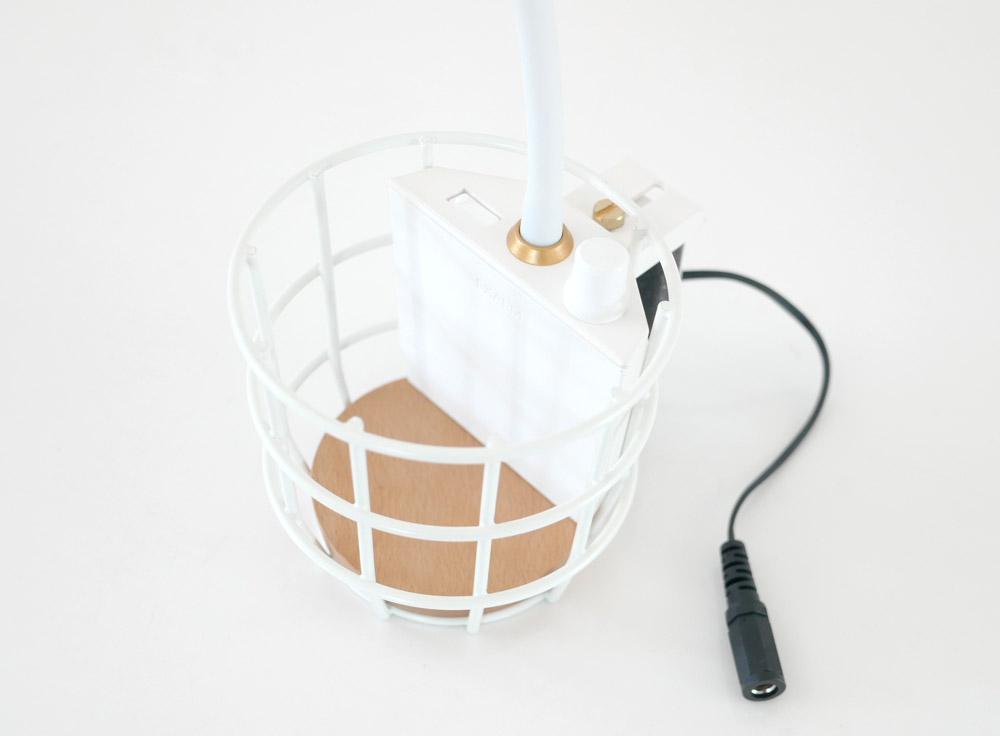 【Another Garden】USB ワイヤーバスケットライト ホワイト