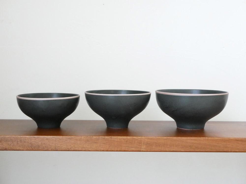 【sarasa design×イブキクラフト】ご飯茶碗 L ブラック