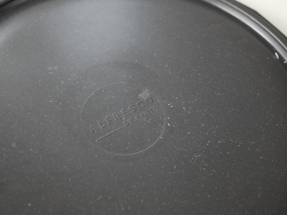 【KINTO】 ALFRESCO プレート 25cm ブラック