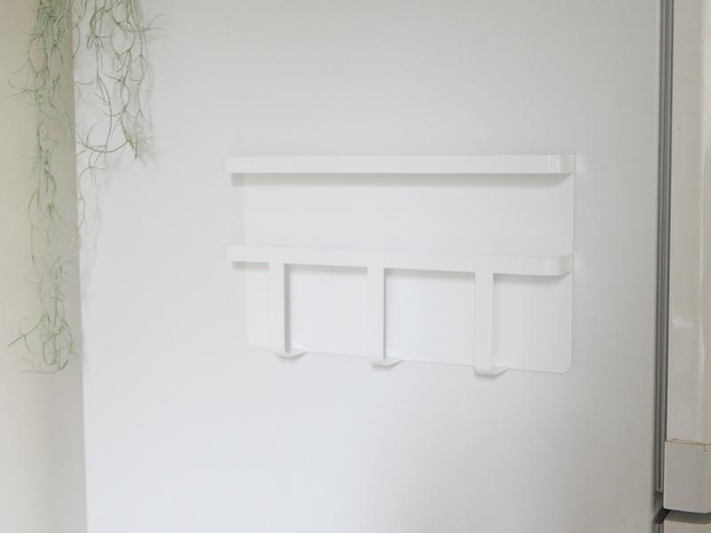 【tower】マグネット冷蔵庫サイドレシピラック ホワイト