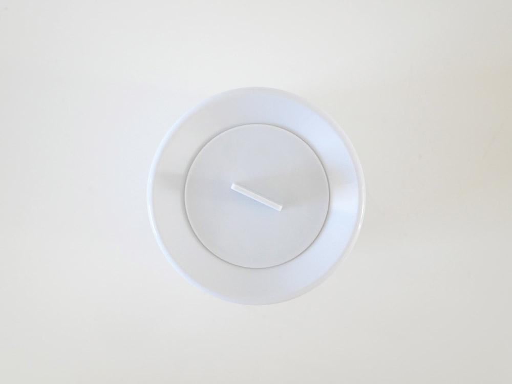 【mini TUBELOR with Lid】丸形ダストボックス ミニ 蓋つき ホワイト