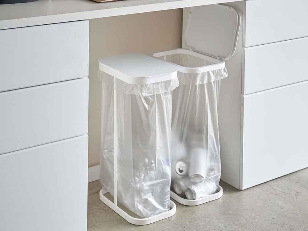 【LUCE】横開き分別ゴミ袋ホルダー ホワイト