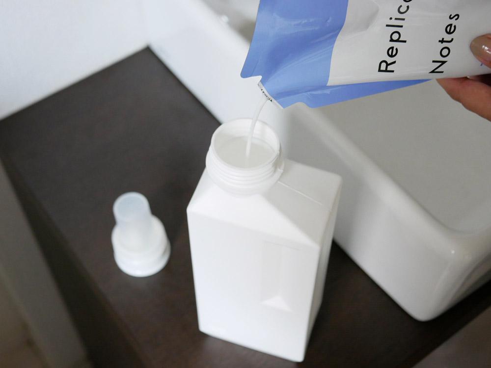 【B2C】 ランドリーボトル L 1000ml /オフホワイト