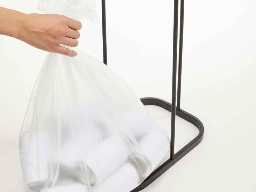 【LUCE】横開き分別ゴミ袋ホルダー ブラック