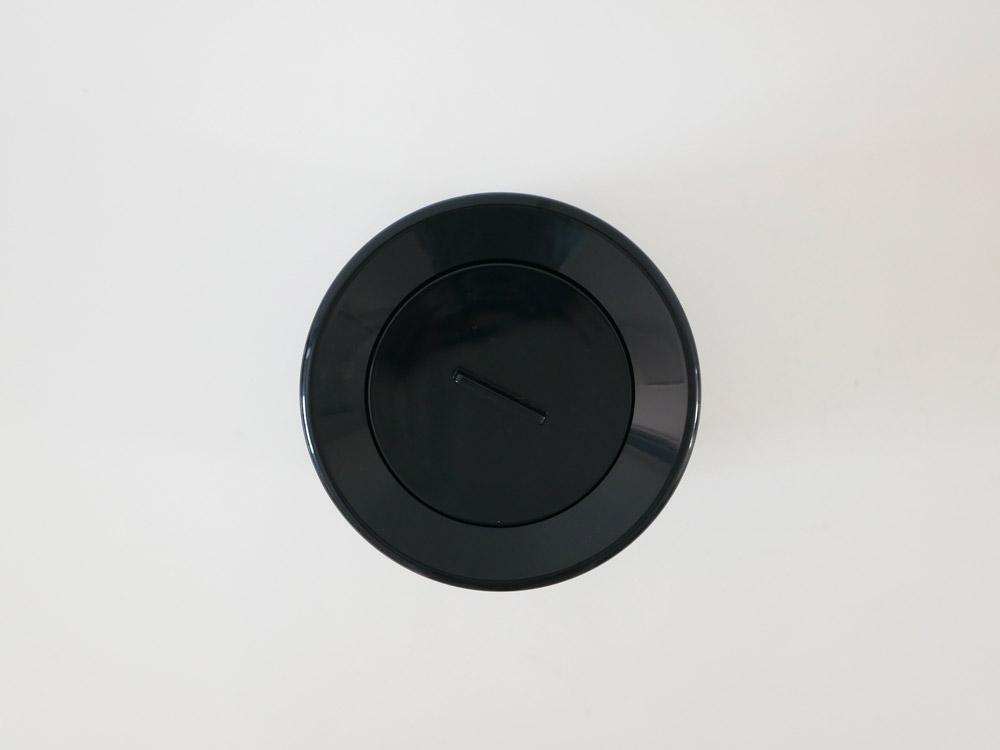 【mini TUBELOR with Lid】丸形ダストボックス ミニ 蓋つき ブラック