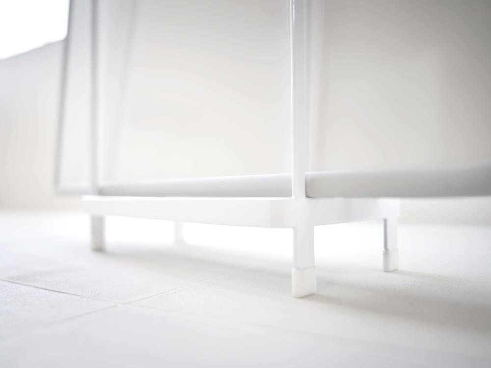 【tower】乾きやすい風呂蓋スタンド ホワイト