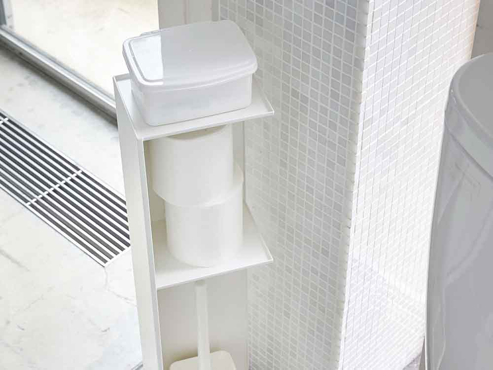 【tower】スリムトイレラック ホワイト