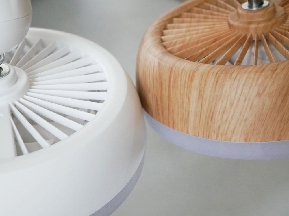 【THREEUP】人感センサー付 LEDサーキュレーション ナチュラルウッド