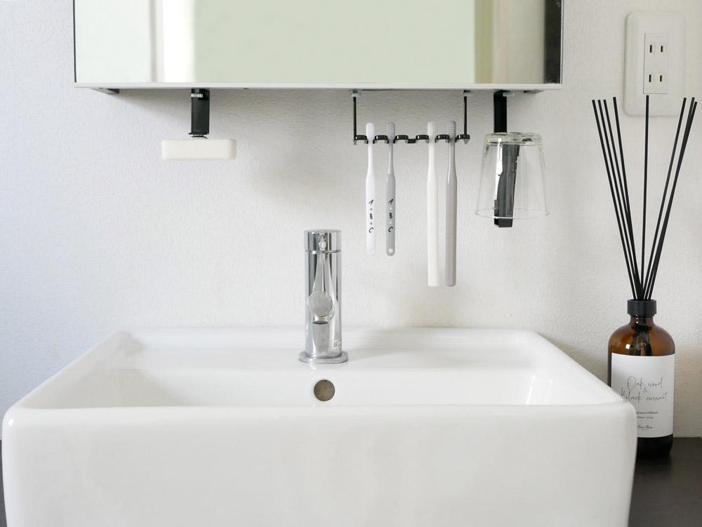 【tower】 洗面戸棚下マグネットソープホルダー  ホワイト