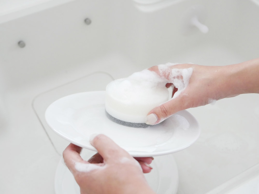 【MARNA】 POCO キッチンスポンジ グレー