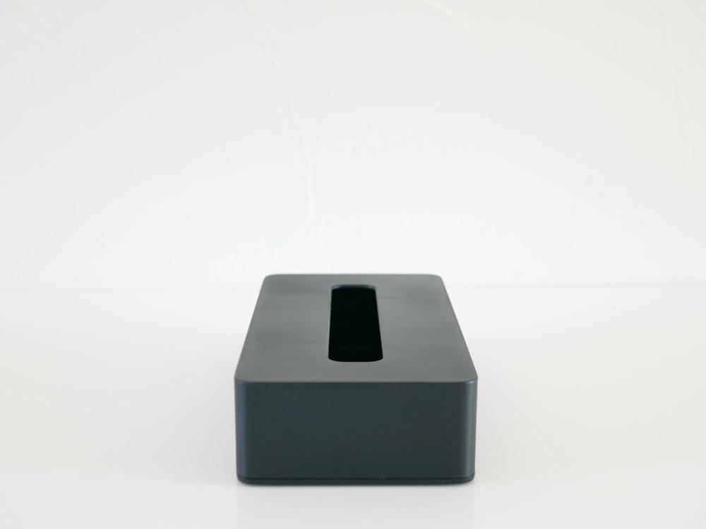 【tower】コンパクトティッシュケース ブラック