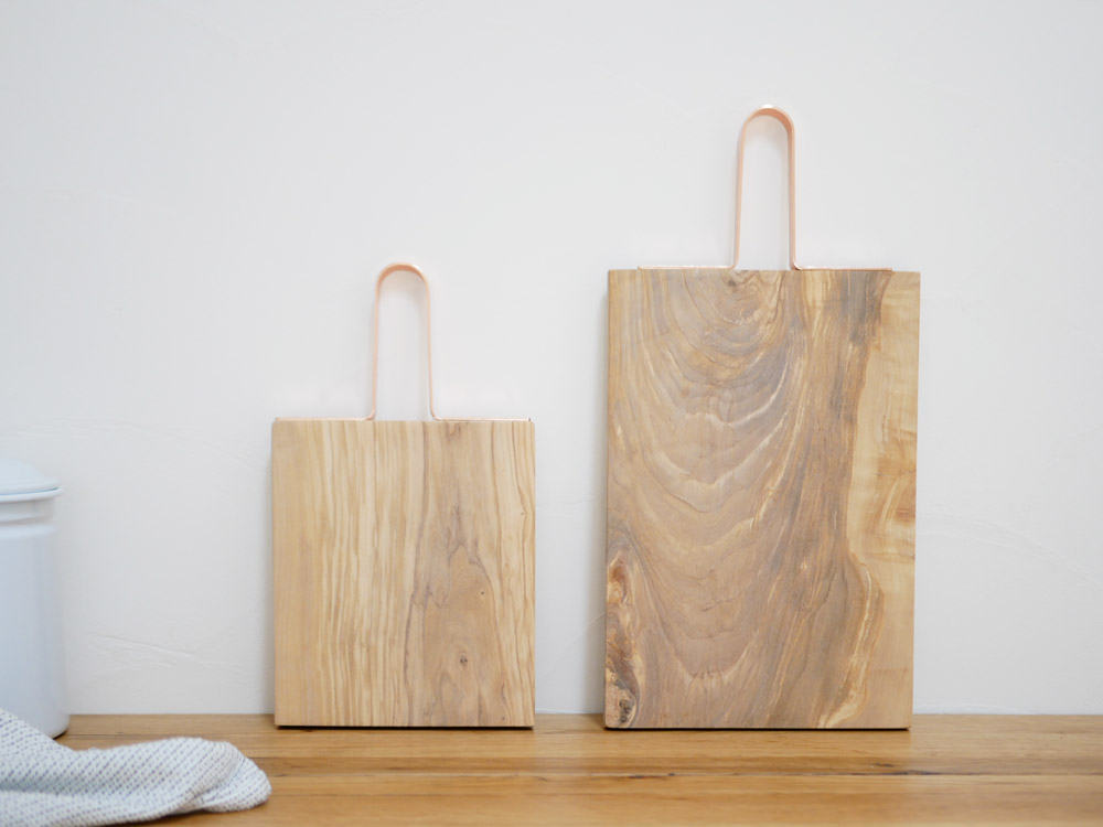 【Horn Please】 OLIVE WOOD カッティングボード グリップ(S)