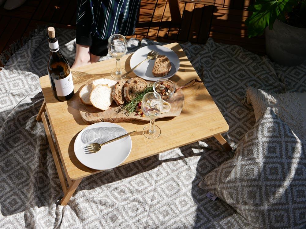 【予約販売3月中旬入荷予定】【Vacances】バンブーテーブル L