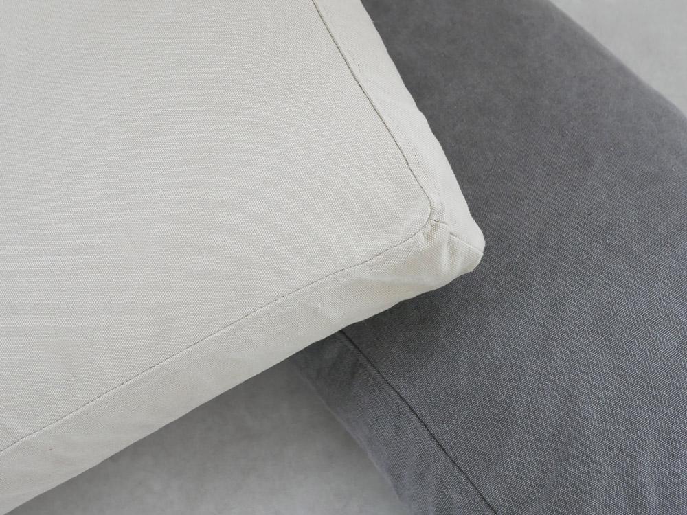 【adepeche】 solo 3シート ソファ ファブリック /チャコールグレ-【受注生産品・メーカー直送・代引き不可商品】