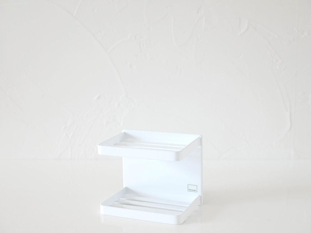 【tower】マグネットバスルームソープトレー 2段 ホワイト