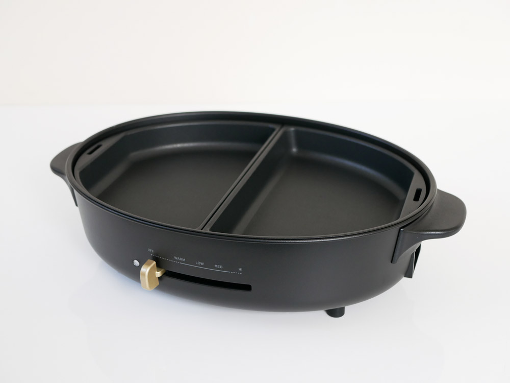 【BRUNO】オーバルホットプレート用 ハーフプレート