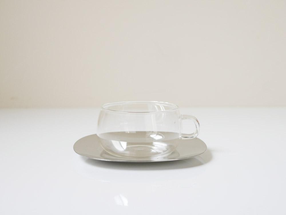 【KINTO】UNITEA カップ&ソーサー 230ml ステンレス /8337