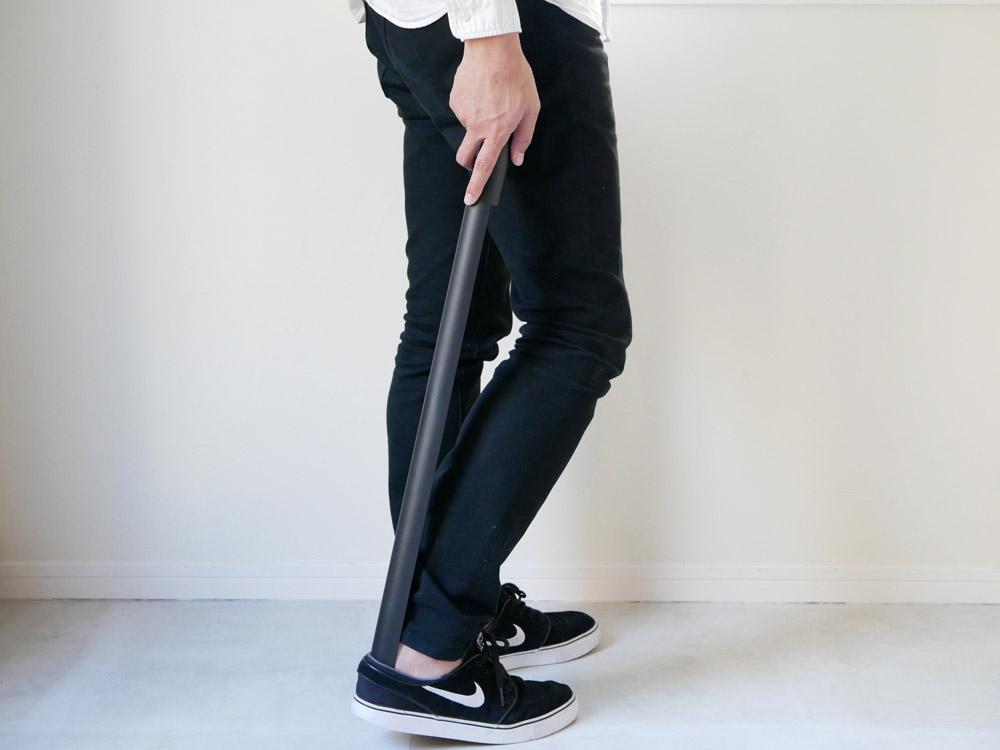 【noppo】 マグネット式 靴ベラ ブラック