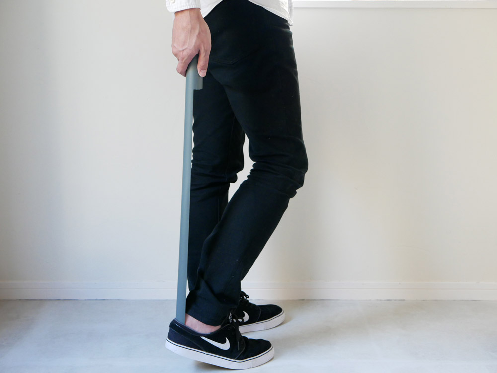 【noppo】 マグネット式 靴ベラ ブルーグレー