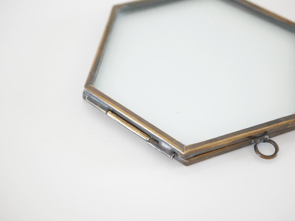 【Liam】真鍮ガラスフレーム HEX(ヘックス) ゴールド
