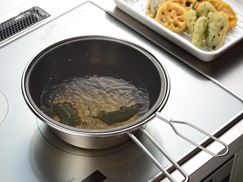 【AUX】leye メッシュ蓋で油はねを防ぐオイルパン+24cmメッシュ蓋セット