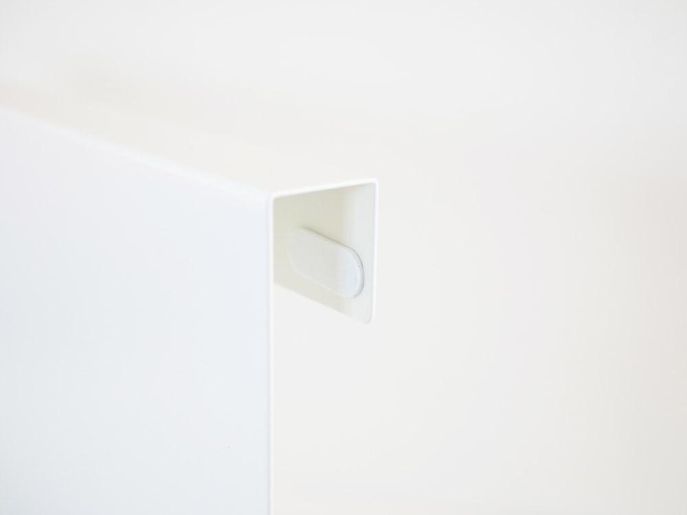 【tower】キッチンエンドパネル引っ掛け収納ホルダー ホワイト