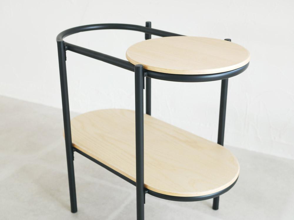 【Leaf】 サイドテーブル ブラック