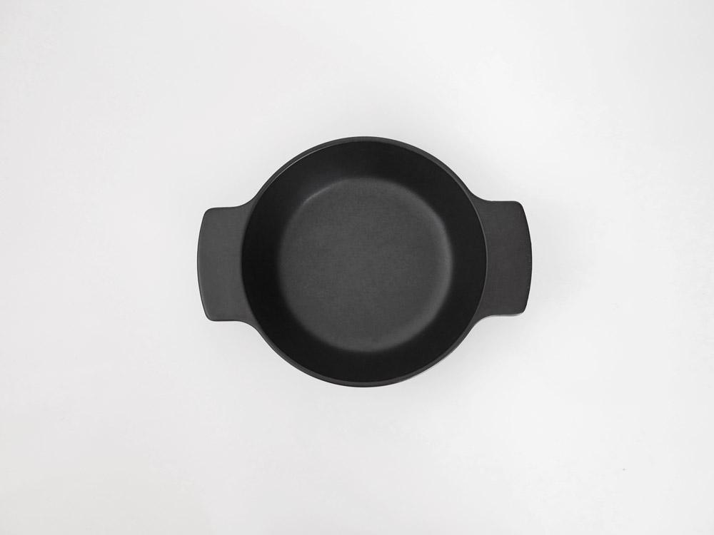 【ARITA JIKI】ポットディッシュ S ブラック【受注生産品】