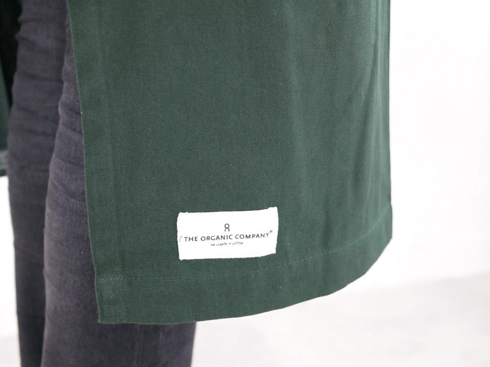 【The Organic Company】エプロンウィズポケット ダークグリーン