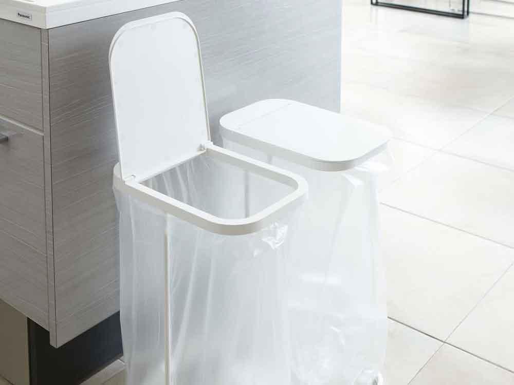 【LUCE】分別ゴミ袋ホルダー ホワイト