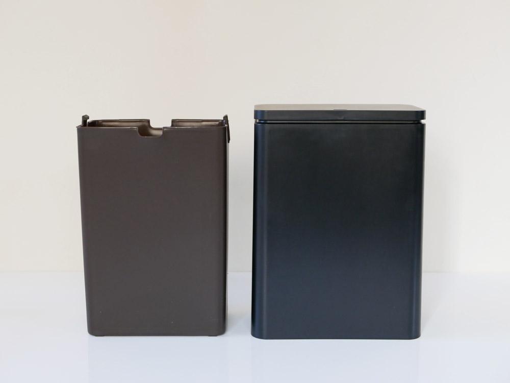 【TUBELOR】ミディアムフラップ 密封容器型衛生ゴミ箱 ブラック