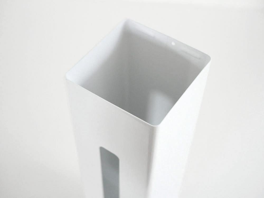 【tower】 ポリ袋ストッカー/ホワイト