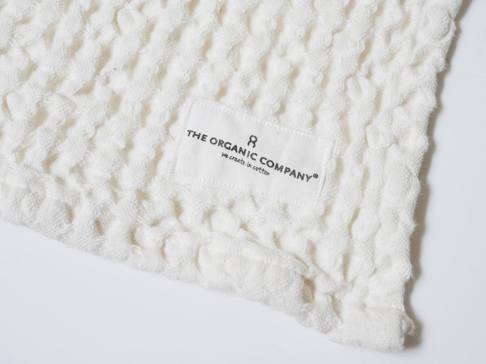 【The Organic Company】ビッグワッフルキッチン&ウォッシュクロス ホワイト