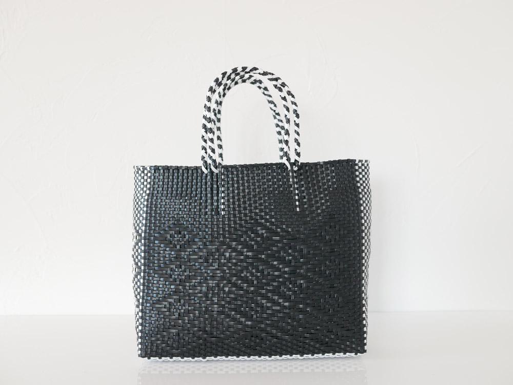 【POSH LIVING】WOVEN BAG ブラック