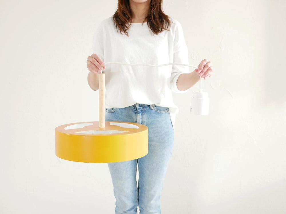 【BRID】Olika LAMP 3バブル ペンダントライト(電球あり) ミモザイエロー