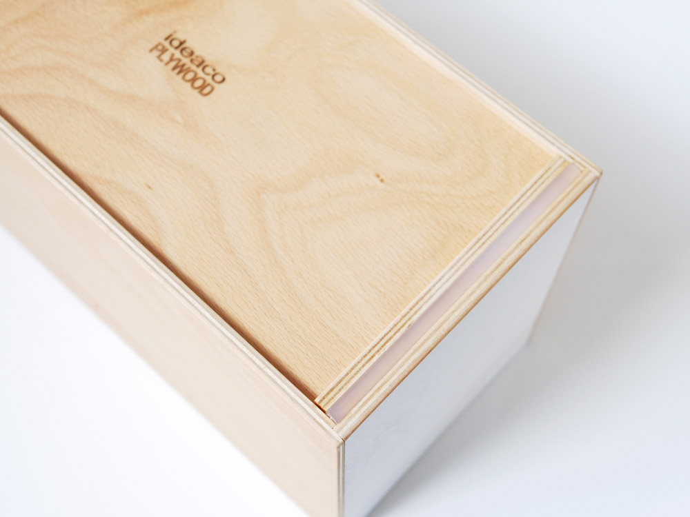 【Ply wood Series】ルーフ ペーパーボックス ホワイト