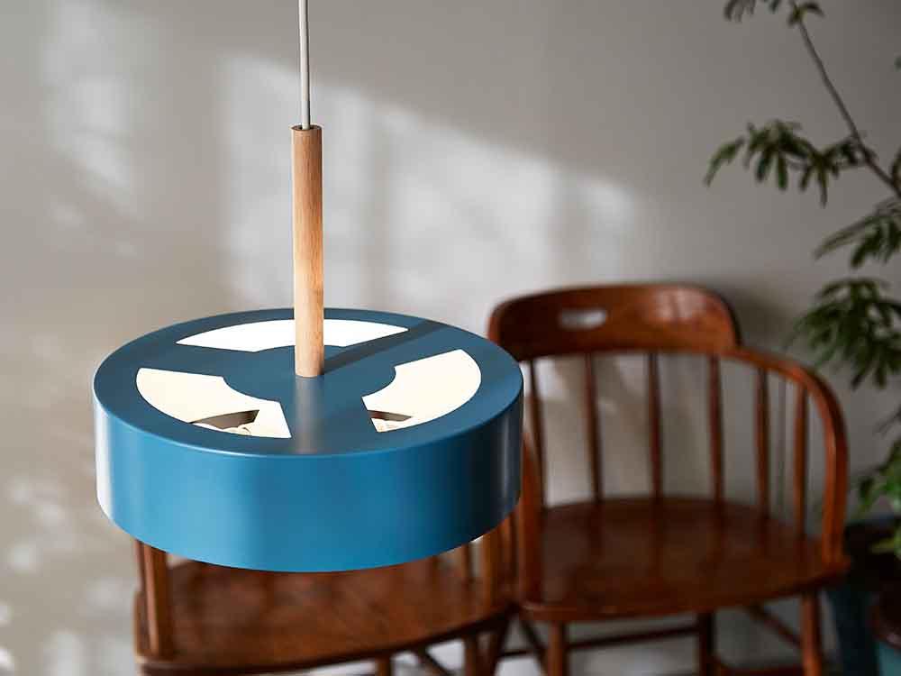 【BRID】Olika LAMP 3バブル ペンダントライト(電球あり) ノルディックブルー