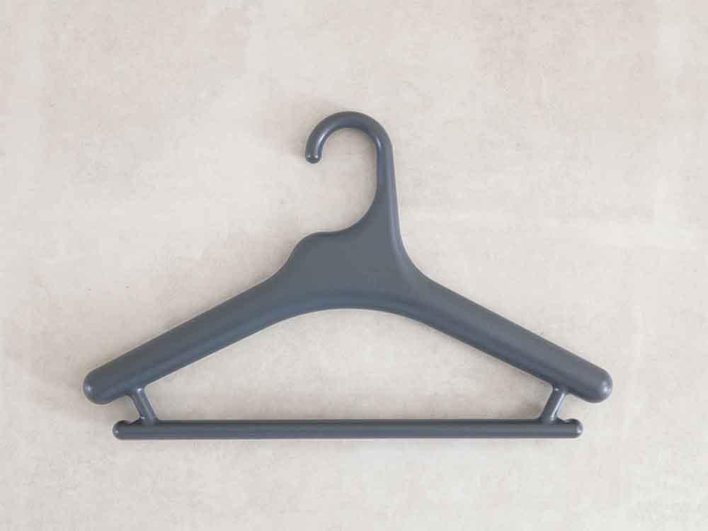 【like-it】Midline 370 滑り止めがついた衣類ハンガー 1本 ダークグレー