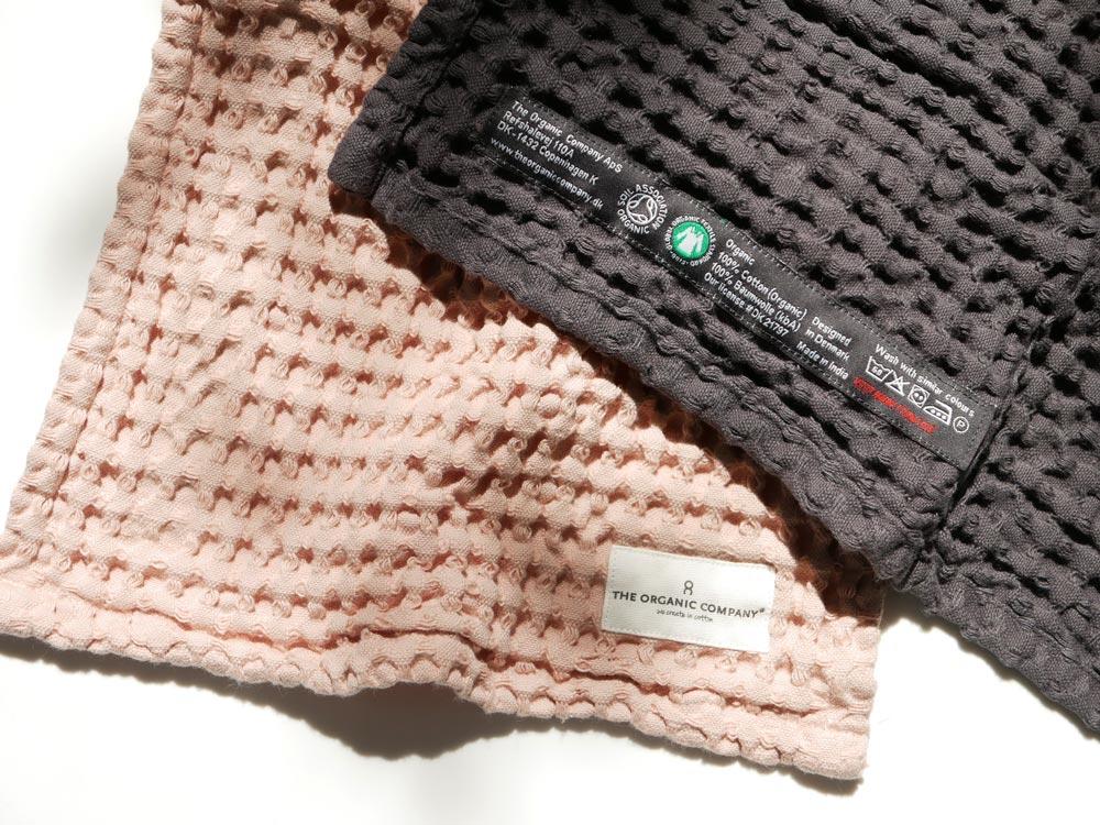 【The Organic Company】ビッグワッフルキッチン&ウォッシュクロス ピンク