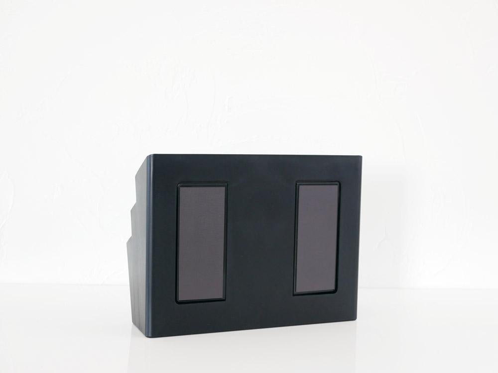 【tower】冷蔵庫横マグネット収納ポケット 3段 ブラック