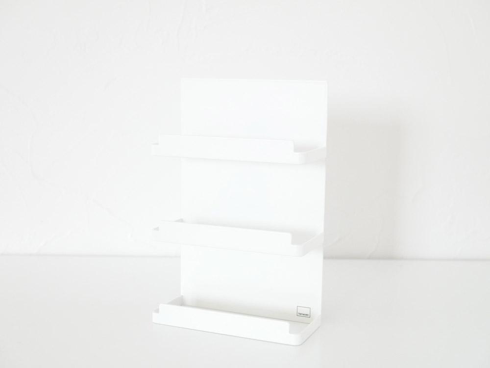 【tower】マグネットラップホルダー 3段 プレート ホワイト