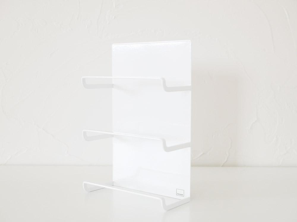 【tower】マグネットラップホルダー 3段 ホワイト