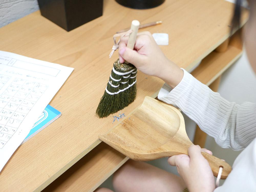 【Horn Please MADE】ソルガム デスクブラシ タイディアップ /ブラウン